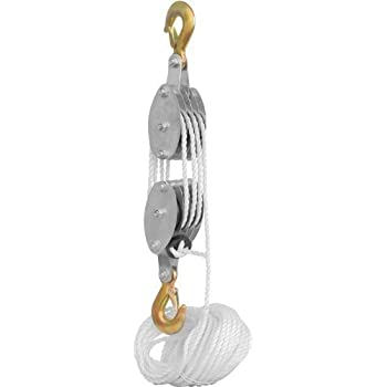 Generic Rope Pulley Block and Tackle Hoist