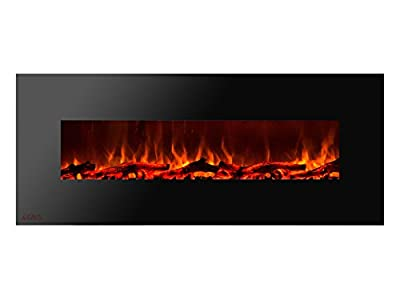 Ignis Royal 60 inch Wall/Recessed Mounted Electric Fireplace with Logs c SA us Certified