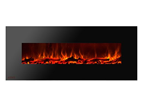 Ignis Royal 60 inch Wall Mounted Electric Fireplace with Logs c SA us Certified (Could be recessed with no heat)