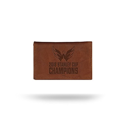 Rico Industries NHL Washington Capitals 2018 Stanley Cup Champions Embossed Leather Trifold Wallet with Man Made Interior by Rico Industries