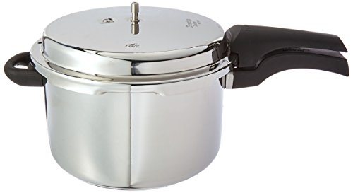 Prestige Alpha PRSDA-6.5L Induction Base Stainless Steel Deluxe Pressure Cooker, 6.5 L/Small, Silver