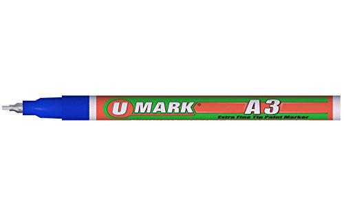U-Mark 10102XFL Blue A3 Extra Fine Tip Paint Marker, 0.8 ...