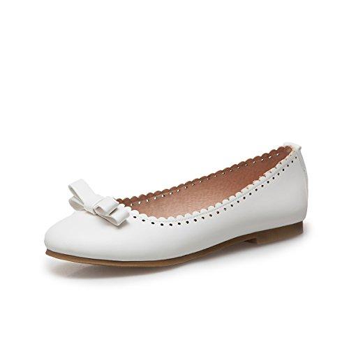 LSM-Talons MEI&S Femmes Casual Chaussures Chaussures Bouche Peu Profonde à Plat White MQJAWOT