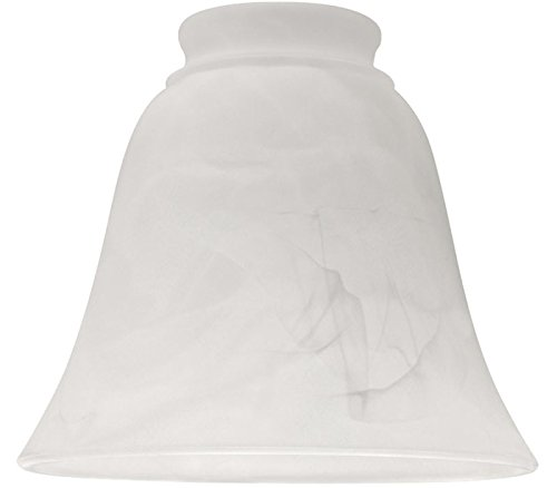 Ellington 635A Alabaster Bell Shaped Ceiling Fan Glass Shade with 2 1/4