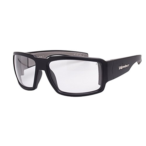 Bomber Sunglasses - Boogie Bomb Matte Black Frm / Clear Pc Safety Lens / Gray Foam