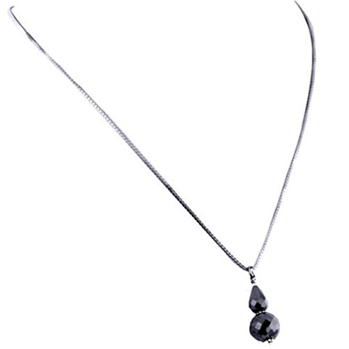 Barishh 14 Cts. Black Diamonds Necklace.AAA.Certified. Beautiful by Barishh