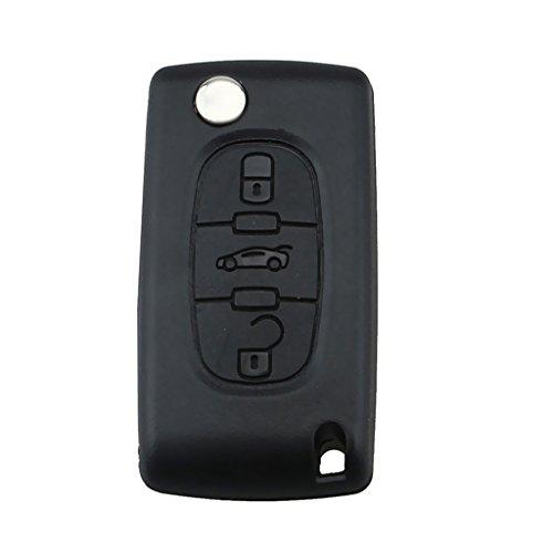 C28 Remote - MonkeyJack 3 Buttons Keyless Entry Remote Key Fob 433mhz for Peugeot 207 307 308 407 607 Citroen Berlingo C2-8 XSARA