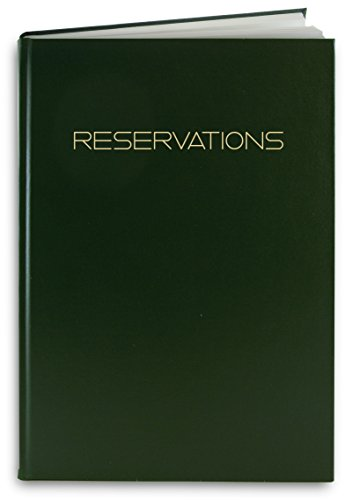 (BookFactory Reservations Book, 365 Day Table Reservations, Restaurant Dinner Reservations 408 Pages, 8 7/8