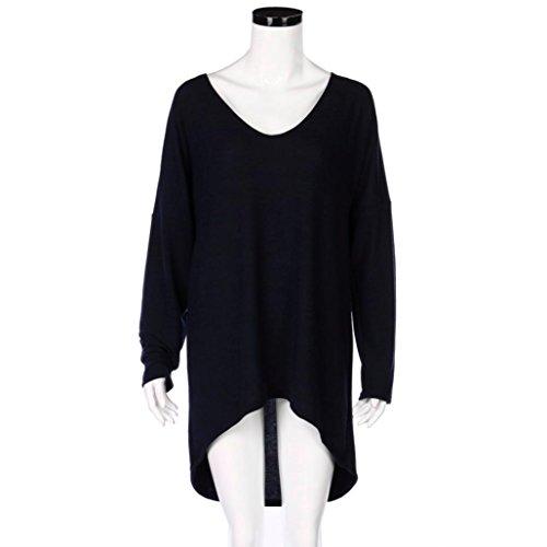 T-shirt femme HUHU833 manches longues lâche manches chauve-souris Tunic Blouse Casual Tops