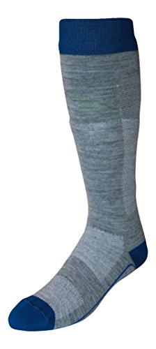 Alpaca Socks - Alpaca Wool Bootfitter Lightweight Ski Socks (large (womens 9.5-12, mens 9-11.5), gray/royal)