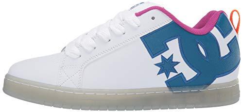 White//Black//Cyan 14 M US DC Mens Court Graffik SE Skate Shoe