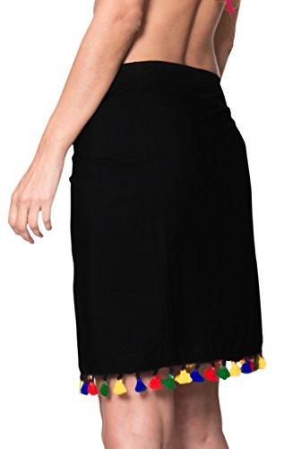 La Cover Corto Esterno Dell'involucro Nero Del Pareo Bagno Usura b363 Leela Pannello Delle Da up Costume Donne Spiaggia 8rIrBnqw6