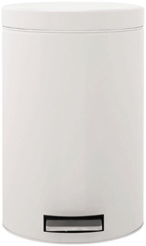 Brabantia Step Trash Can 2.6 gallon/12 liter with Plastic Inner Bucket - (12l Pedal Bin)