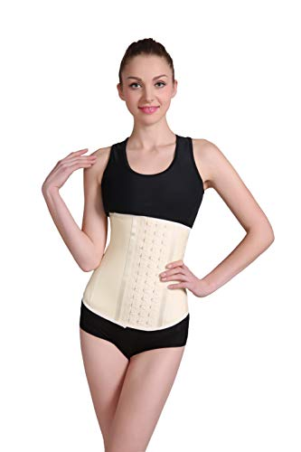 Ann Darling Latex Sport Waist Trainer/Cincher/Trimmer Hourglass Corset For Weight Loss Beige X-Small