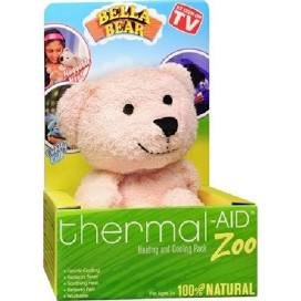 Thermal-Aid 100% Natural Heating and Cooling Packs for Kids (Pink Bear - Bella)