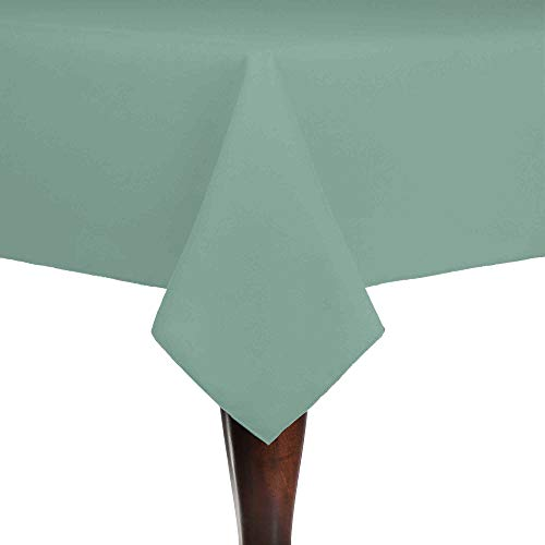 Ultimate Textile -2 Pack- Cotton-Feel 54 x 54-Inch Square Fine Dining Tablecloth, Seamist Light Green