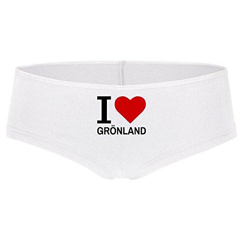 Panty Classic I Love Grönland weiß Damen Gr. S bis XL
