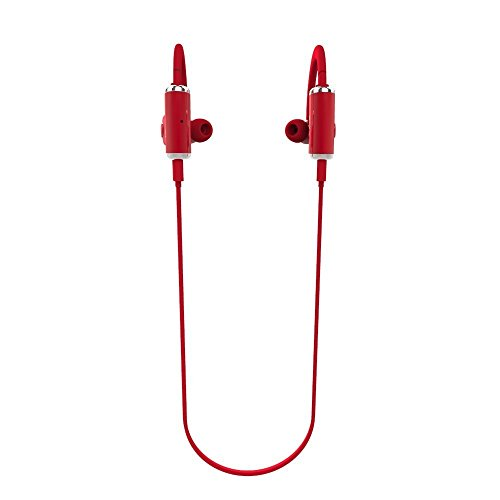 Mydeal Portable Lightweight Sports Wireless Bluetooth Headphones Noise Cancelling Headphones w/ Microphone [ Sports / Running / Gym / Exercise/ Sweatproof ] Wireless Bluetooth Earbuds Headset Earphones Earpiece For iPhone 6,6 plus,5,5s,5c,4,4s,ipad 4,3,2,iPad Air Mini,iPod,Samsung Galaxy S6,S5,S4,S3, Galaxy Note 4,3,and other Android Smartphones Red
