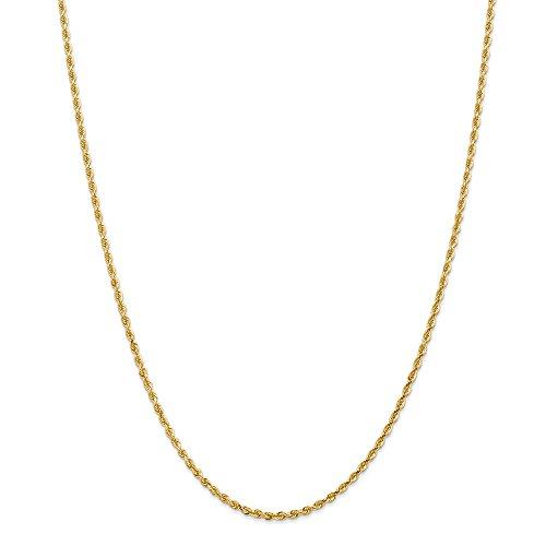 14K Yellow Gold 2.25mm D/C Quadruple Rope Chain