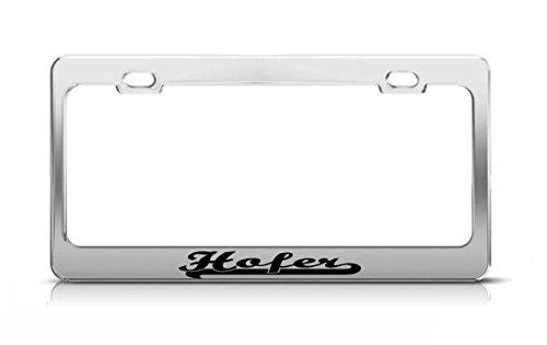 hofer-last-name-ancestry-metal-chrome-tag-holder-license-plate-cover-frame