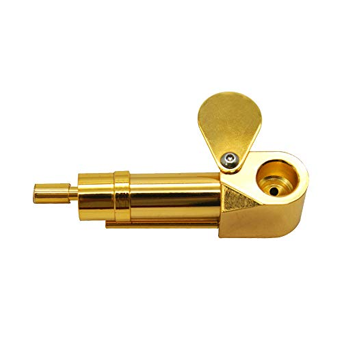 Kanonaki Cool Jamaican Metal Pipe Portable Brass Pipe Metal Mini Pip