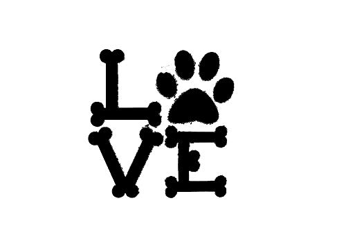 Tamiko - Love Dog Bones Puppy Pug Retriever Lab Car Truck Window Sticker Decal #378 - (Color Name: As a picture )