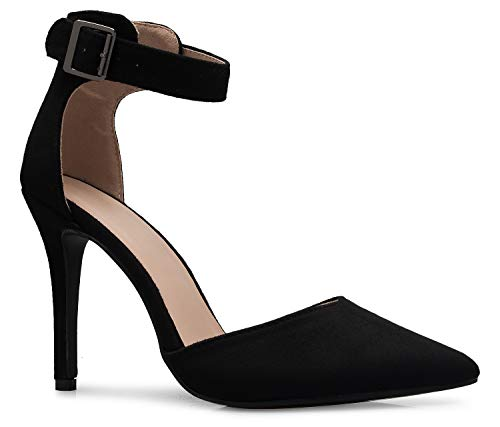OLIVIA K Women's Sexy D'Orsay Pointed Toe Heel Pump - Classic, Comfortable