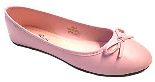 Scarpe8teen Scarpe 18 Nuove Ballerine Ballerine Donna Scarpe Leopardati E Solidi 14 Colori Rosa