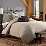 Keeco Luxury Solid Oversize Chenille Duvet Cover Set, Twin, Sand