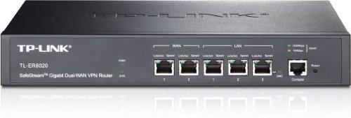 TP-Link SafeStream TL-ER6020 Gigabit Broadband Desktop/Rackmount VPN Router, 940M NAT throughput, 40k Concurrent...