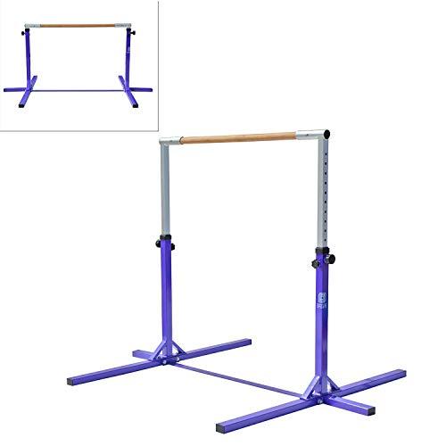 Modern-Depo Adjustable Height Kip Bar Pro | Junior Training Gymnastics Horizontal Bar Beech Wood - Purple by Modern-Depo (Image #7)