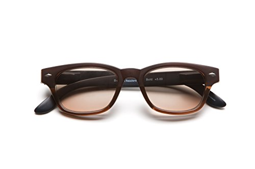 B +D Super Bold Full Lens Sun Reader in Brilliant Brown +2.0