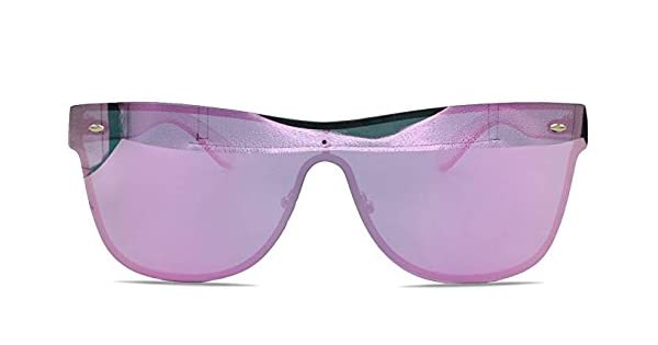 Amazon.com: Sin montura anteojos de sol degradado lente ...