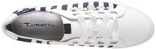 Sneakers Femme 23768 Bleu Basses Tamaris Navy Comb 5w08aBvxq