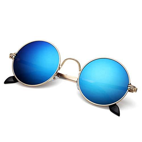 sol UV Redondas de para Nuevas Vogue Retro D Aviador Hipster UV Gafas de Running Hombre protección 5a0n1