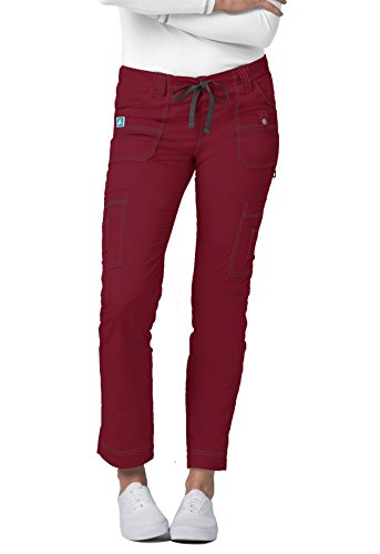 - Adar Pop-Stretch Jr. Fit Low-Rise 11-Pocket Slim Cargo Pants - 3108 - Wine - XXS