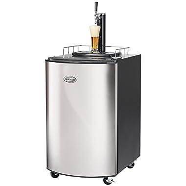 Nostalgia KRS2150 5.1 Cubic-Foot Full Size Kegorater Stainless Steel Draft Beer Dispenser