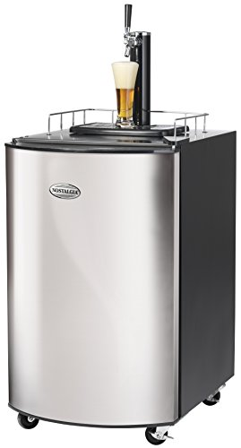 Nostalgia KRS2150 5.1 Cubic-Foot Full Size Kegorater Stainless Steel Draft Beer (Pony Keg Dispenser)