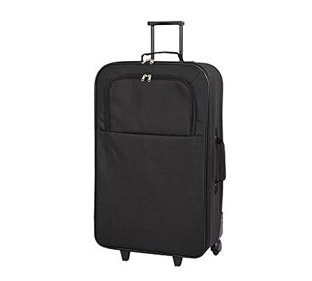 d6ea27d4c Delex® Brand New Simple Value Soft 2 Wheeled Black Suitcase (Large):  Amazon.co.uk: Kitchen & Home