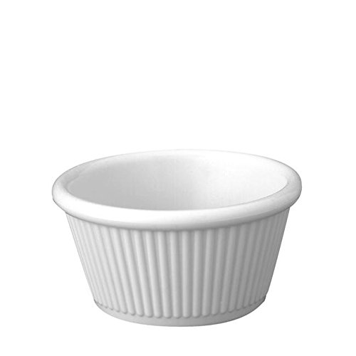 Gessner Products Company 0364AWH Ramekin Fluted White 4.5 oz (SET OF 48 PER CASE) - Gessner Fluted Ramekin