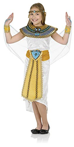 Girls Egyptian Pharaoh Costume Kids Historical Queen of The Nile Outfit - Medium -