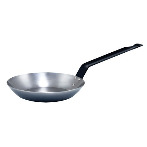 Winco CSFP-8, 8-5/8-Inch French Style Fry Pan, Carbon Steel Frying Pan with Extra Long Solid Metal Handle