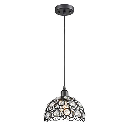 Metal Flower Pendant Light in US - 4