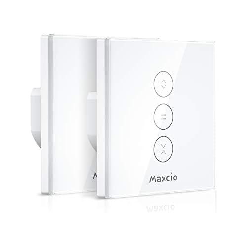 chollos oferta descuentos barato  LED Controlable WiFi Interruptor Persiana Maxcio Interruptor Inteligente Compatible con Alexa y Google Home Control de APP y Función de Temporizador para Motor Persiana Motor de Obturador