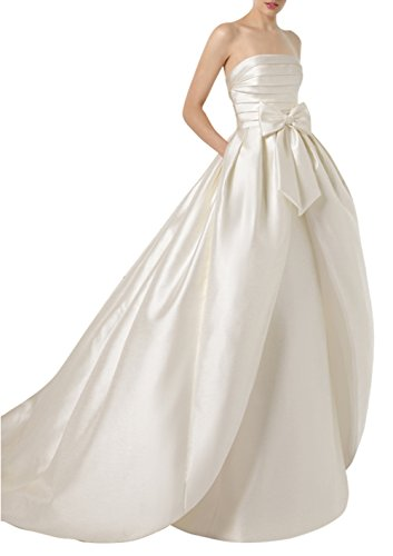 Ethel Women's Strapless Pleated Bow Convertible Dresses for Wedding Party ()