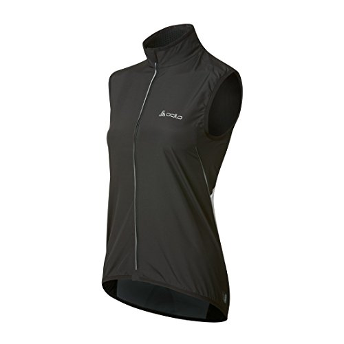 Odlo Women's Vest Flame Cycling Windproof Large Black/White by Odlo