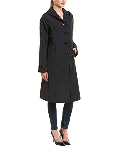 JANE POST Womens Techno Raincoat, Xs, Black ()