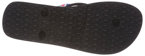 ONeill FW Printed Strap Flip Flops, Chanclas Para Mujer Schwarz (9010 Black Out)