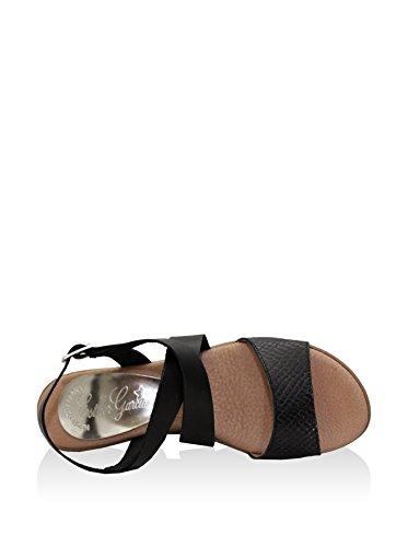Esther Garcia Pmg-5075-neg - Sandalias de cuña Mujer Negro