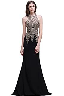 Misshow Womens Lace Mermaid Evening Gowns Long Formal Ball Gala Cocktail Dress